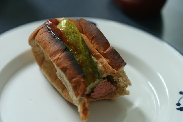 Stuff a pickle in a hotdog for Chicago style